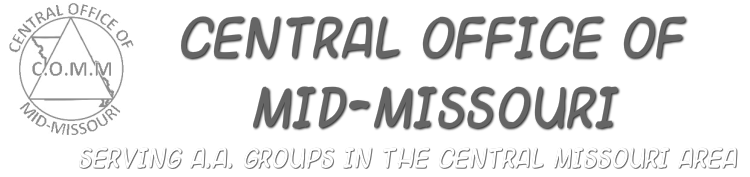 Central Office of Mid-Missouri - Serving Alcoholics Anonymous (AA) Groups in the Central Missouri Area
